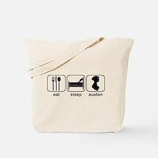Eat Sleep Austen Tote Bag