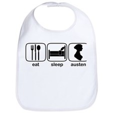 Eat Sleep Austen Bib