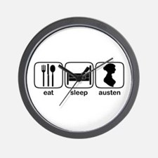 Eat Sleep Austen Wall Clock