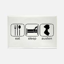 Eat Sleep Austen Rectangle Magnet