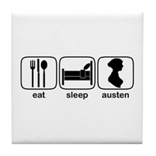 Eat Sleep Austen Tile Coaster