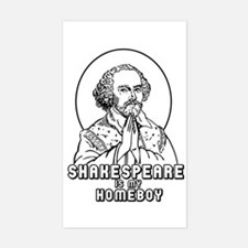 Shakespeare is my Homeboy Rectangle Decal