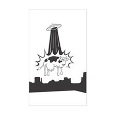 Cow Abduction Rectangle Decal