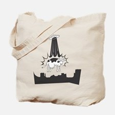 Cow Abduction Tote Bag