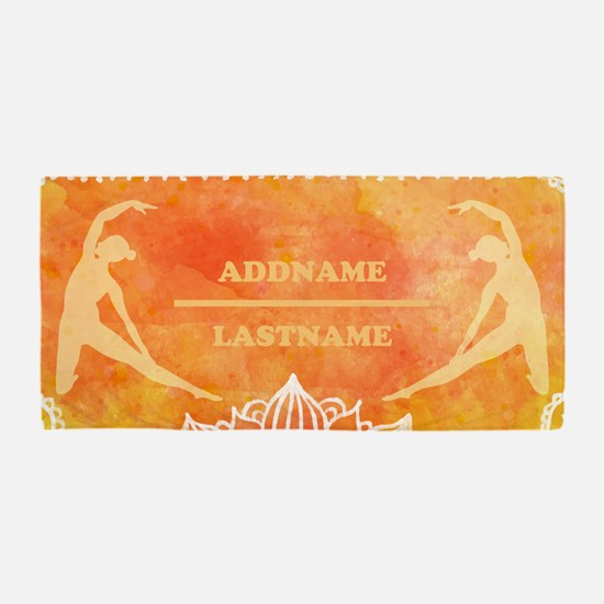 Yoga and Meditation Personalized Beach Towel