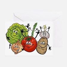 Unique Vegetables Greeting Card