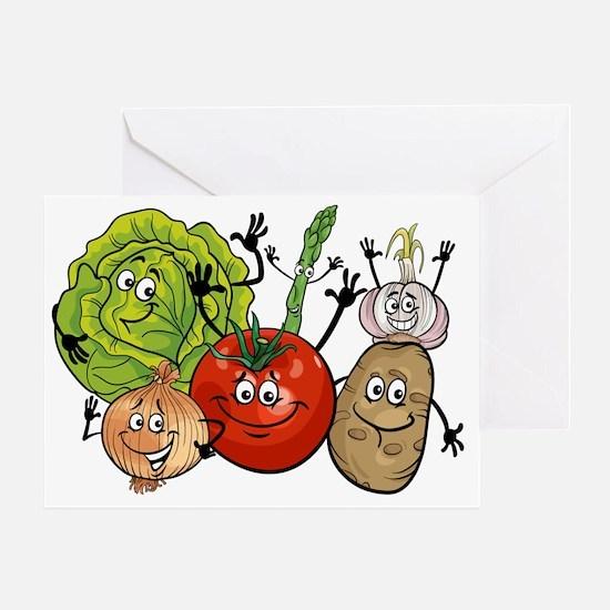 Cute Vegetables Greeting Card