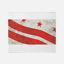 Washington DC State Flag Throw Blanket