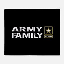 U.S. Army: Family (Black) Throw Blanket