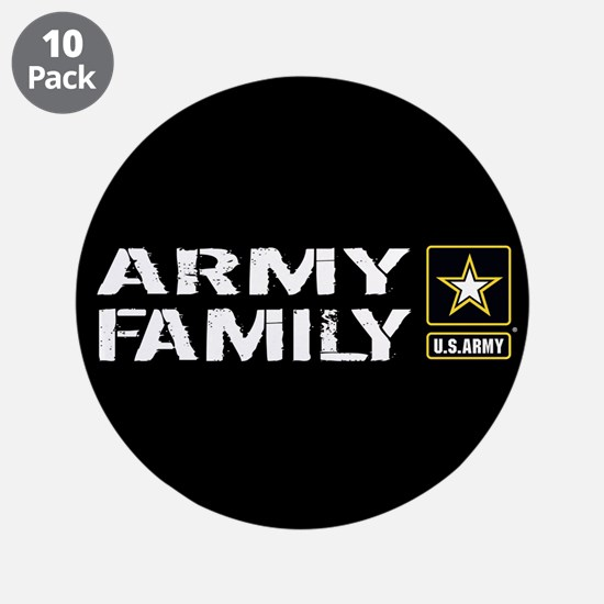 "U.S. Army: Family (Black) 3.5"" Button (10 pack)"
