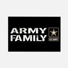 U.S. Army: Family (Black) Rectangle Magnet