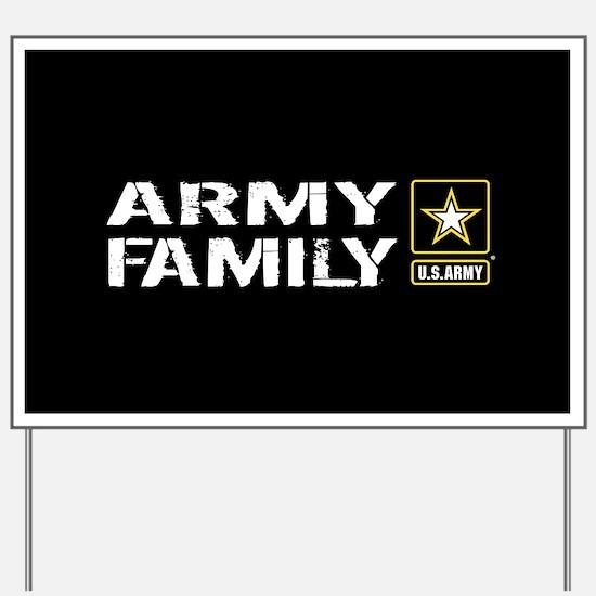 U.S. Army: Family (Black) Yard Sign