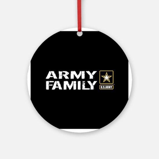 U.S. Army: Family (Black) Round Ornament