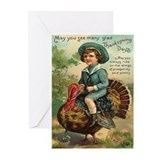 Happy thanksgiving turkey Greeting Cards (20 Pack)