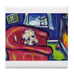 Wheaten Fireplace Tile Coaster