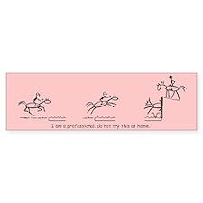 I am a Professional: Eventing / Bumper Bumper Sticker