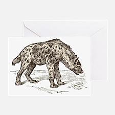 Unique Hyena Greeting Card