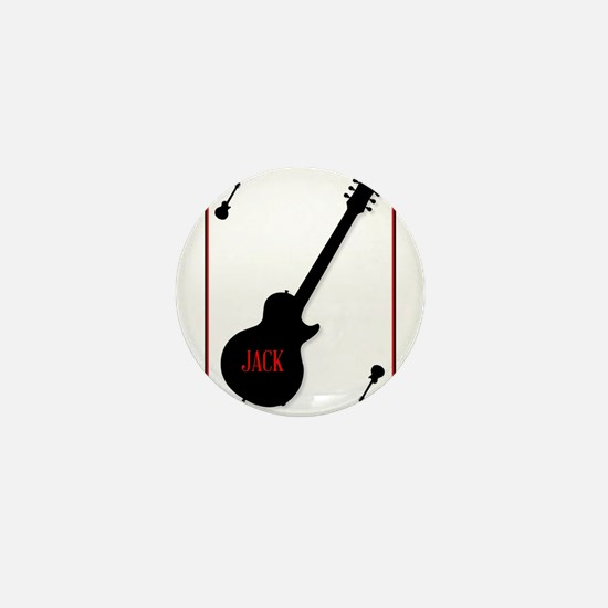 Black Solid Guitar Joker Mini Button