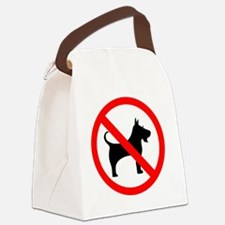 Cute No dogs allowed Canvas Lunch Bag