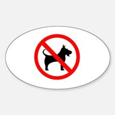 Cute No dogs allowed Decal