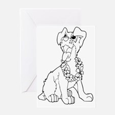 Dog clip art Greeting Card