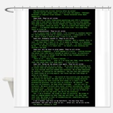 Large poster.png Shower Curtain