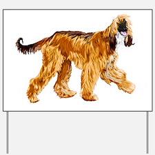 Funny Afghan hound Yard Sign