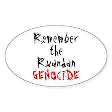Rwandan Genocide Oval Decal