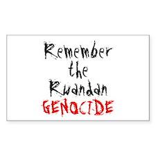 Rwandan Genocide Rectangle Decal