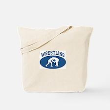 Wrestling (blue circle) Tote Bag
