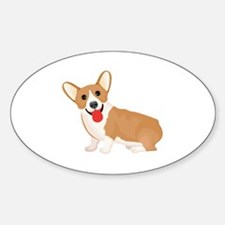 Cute Corgi Sticker (Oval)