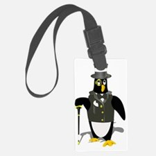 Unique Tux penguin Luggage Tag