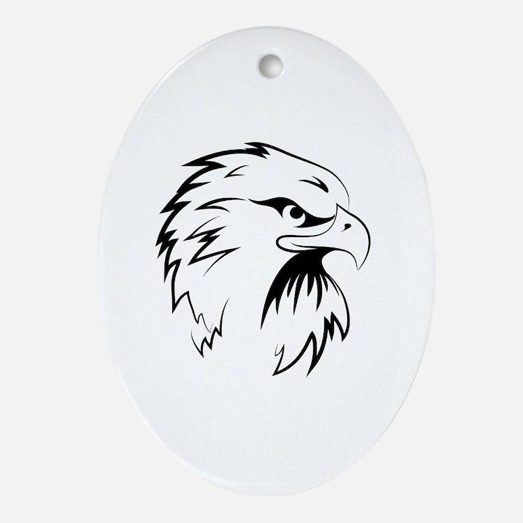 Cute Eagle tattoo Oval Ornament