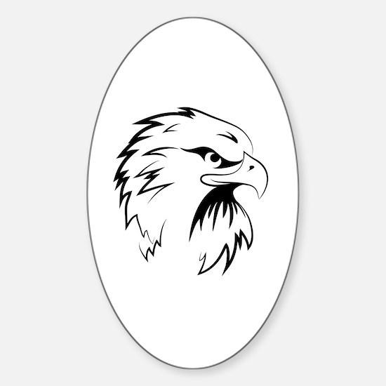 Funny Birds silhouette Sticker (Oval)