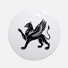 Cute Griffin Round Ornament