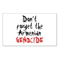 Armenian Genocide Rectangle Decal