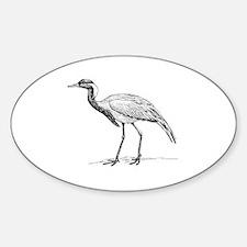 Paper crane Sticker (Oval)