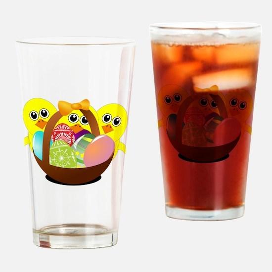 Cute Media basket Drinking Glass