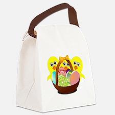 Cute Media basket Canvas Lunch Bag