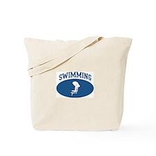 Swimming (blue circle) Tote Bag