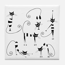 Cute Cat design Tile Coaster