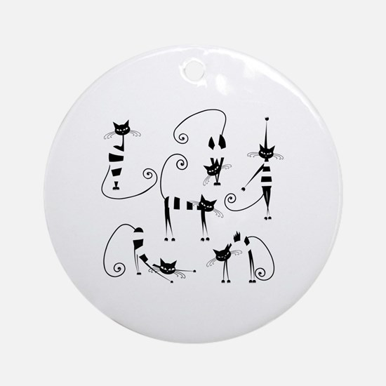 Cute Cat design Round Ornament