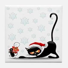 Funny Funny cat face Tile Coaster