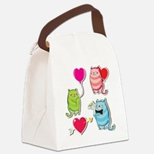Cute Envelopes Canvas Lunch Bag