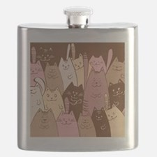 Cool Cat face Flask