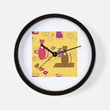 Unique Cat comics Wall Clock