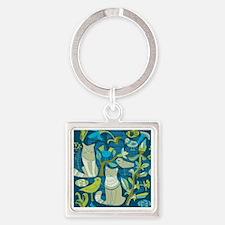 Unique Elephant theme Square Keychain