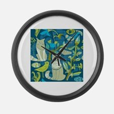 Funny Cat animals Large Wall Clock