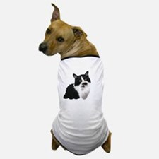 Cute Black and white cat Dog T-Shirt