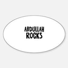 Abdullah Rocks Oval Decal